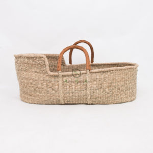 wholesale baby moses baskets with handles made of seagrass