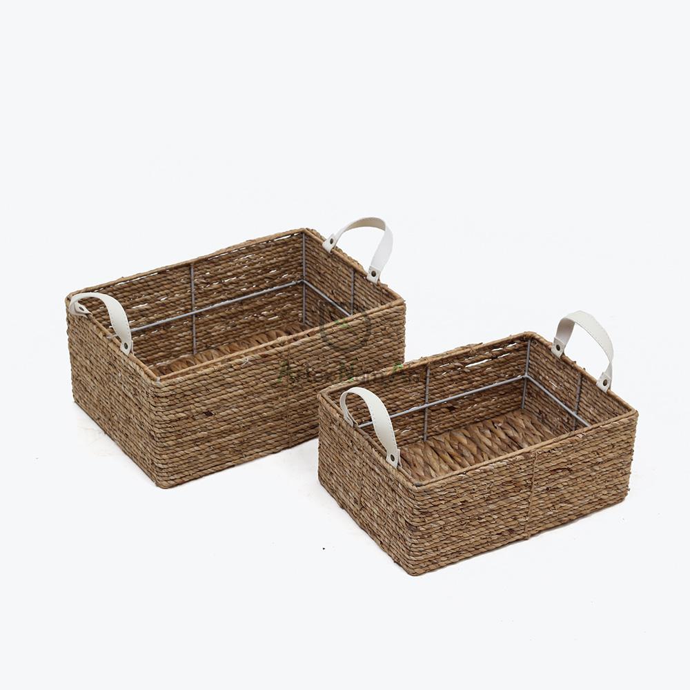 rectangular water hyacinth storage basket from only $3.57