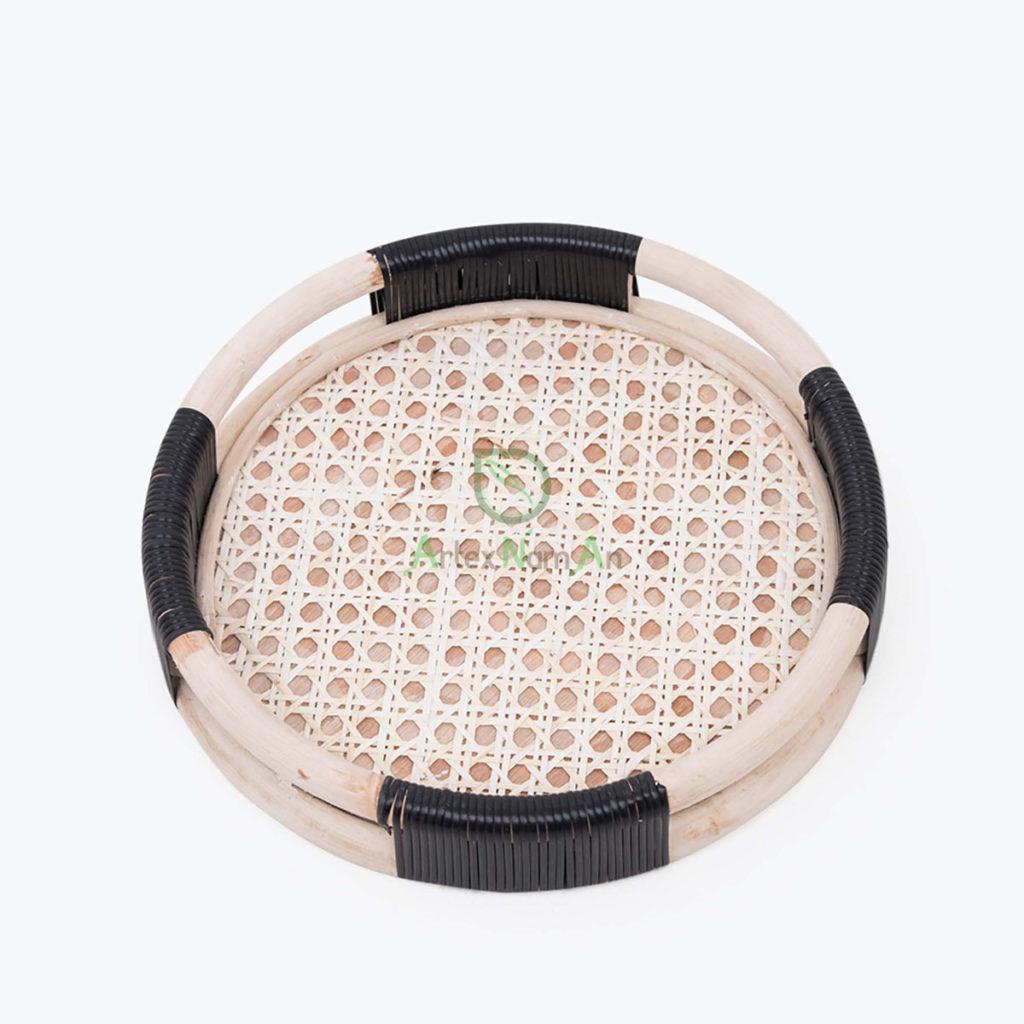 Handmade, Round Decorative trays made of Rattan