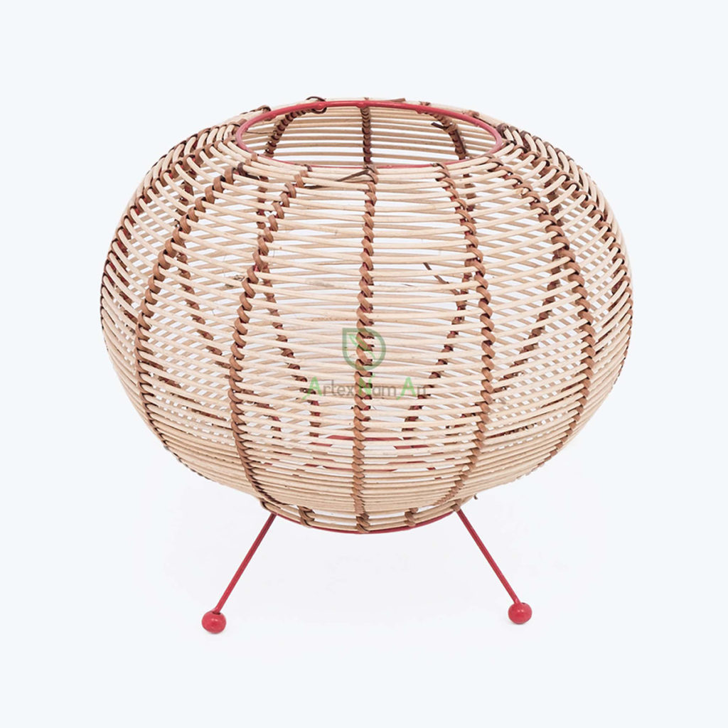 Sustainable, Round Lampshades made of Rattan