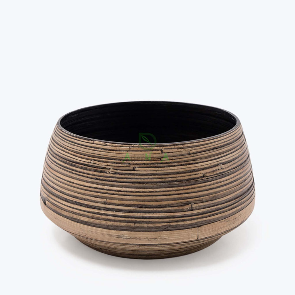 Eco-friendly, Round Indoor planters made of Bamboo
