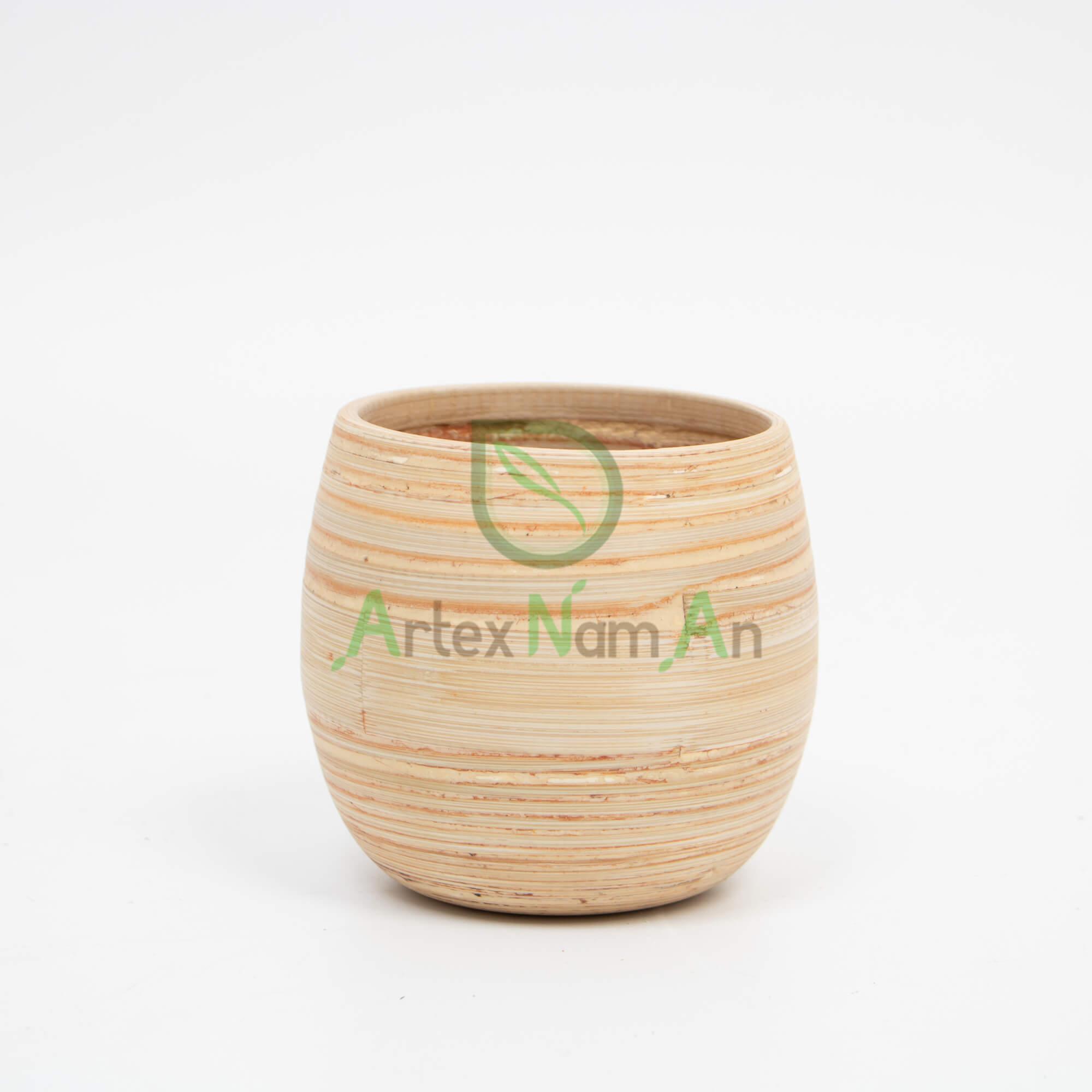 Handmade, Round Indoor planters made of Bamboo