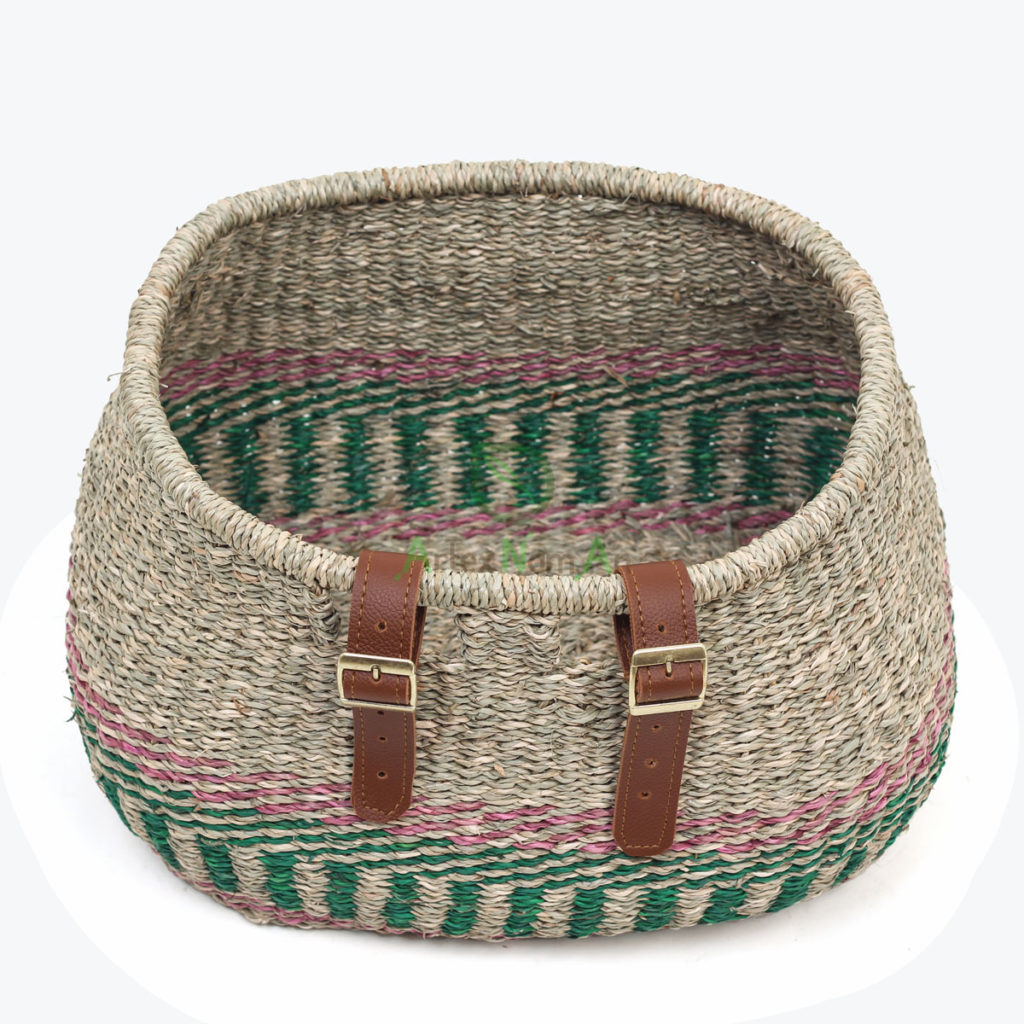 Eco-friendly, Oval Storage & laundry baskets made of Seagrass