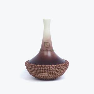 Japandi natural bamboo & seagrass vase from Vietnam manufacturer & wholesaler