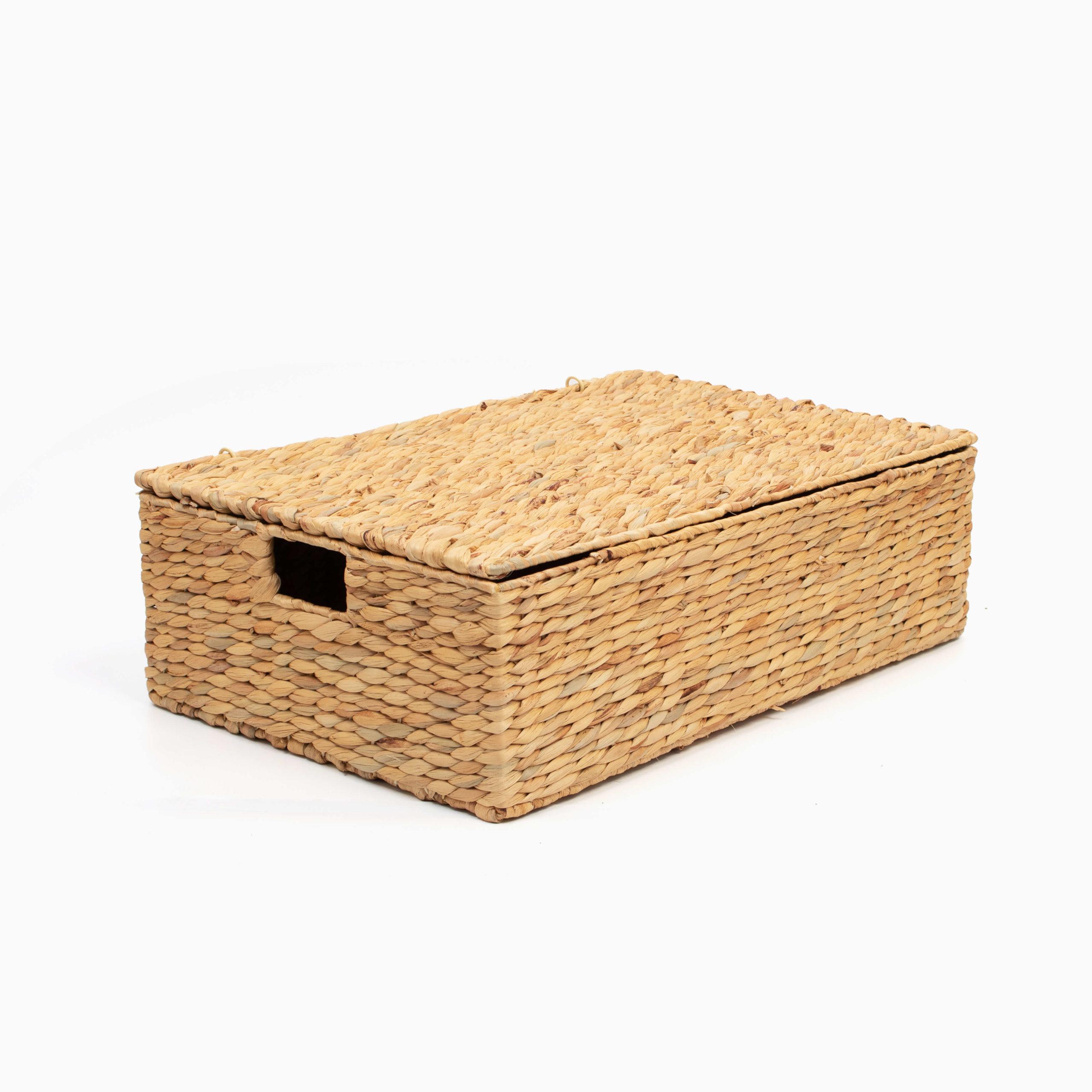 Sustainable, Rectangular Storage & laundry baskets made of Water Hyacinth